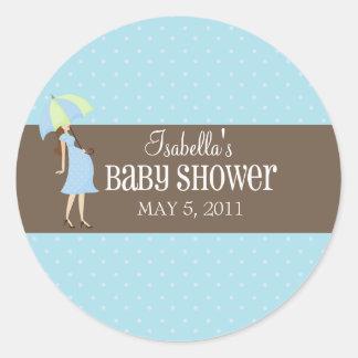 Cute Pregnant Woman | Labels Sticker