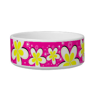 Cute Pretty Floral Pet Cat Food or Water Bowl