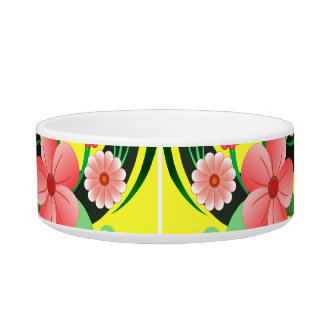 Cute Pretty Floral Small Pet Food or Water Bowl Cat Water Bowl