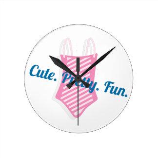 Cute Pretty Fun Round Clock