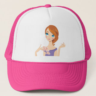 Cute Pretty Girl Trucker Hat