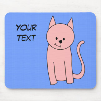 Cute Pretty Pink Cat Mouse Pad