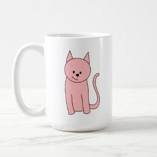 Cute Pretty Pink Cat Classic White Coffee Mug