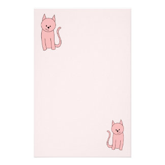 Cute Pretty Pink Cat Stationery
