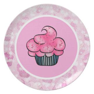 Cute, Pretty Pink Cupcake Plate