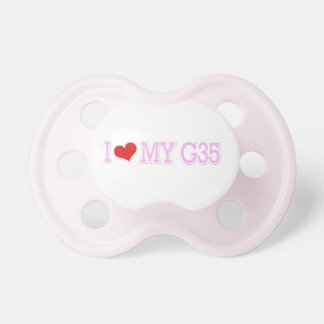 """Cute Pretty Pink """"I love my G35"""" Pink Pacifier"""