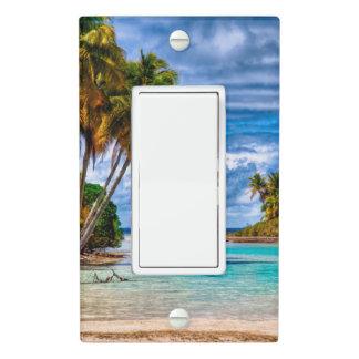 Cute Pretty Summer Hawaiian Beach Watercolor Light Switch Cover
