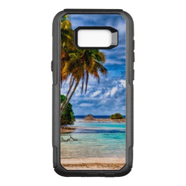 Beach Themed Cute Pretty Summer Hawaiian Beach Watercolor OtterBox Commuter Samsung Galaxy S8  Case