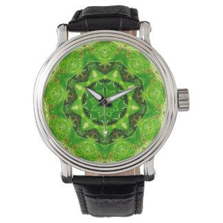 Cute Prickly Cactus Fractal Wrist Watch