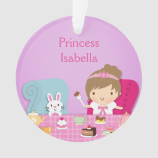 Cute Princess and Bunny Tea Party Girls Room Ornament