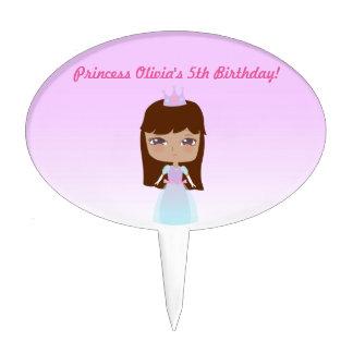Cute Princess Birthday Cake Pick