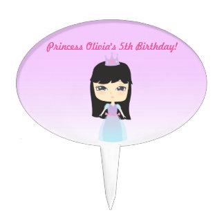 Cute Princess Birthday Cake Picks
