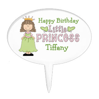 Cute Princess Custom Birthday Cake Pick