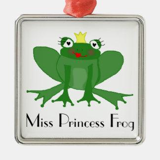Cute Princess Frog Metal Ornament