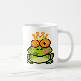 Cute Princess Frog with Golden Crown Coffee Mug