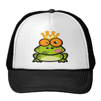 Cute Princess Frog with Golden Crown Trucker Hat