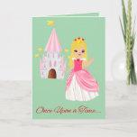 Cute Princess Granddaughter Valentine Blonde Holiday Card