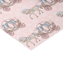 Cute Princess horse and carriage party Tissue Paper