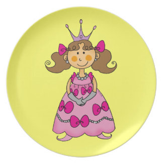 cute princess melamine plate
