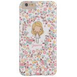 Cute Princess Monogram Custom Floral Barely There iPhone 6 Plus Case