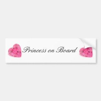 Cute Princess on Board Bumper Sticker Car Bumper Sticker