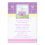 "Cute princess party castle birthday invitation 5"" x 7"" invitation card"