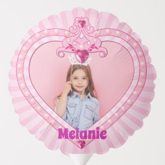 Cute Princess Photo Birthday Balloon