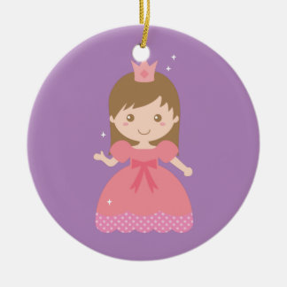 Cute Princess, Pink for Little Girls Ceramic Ornament