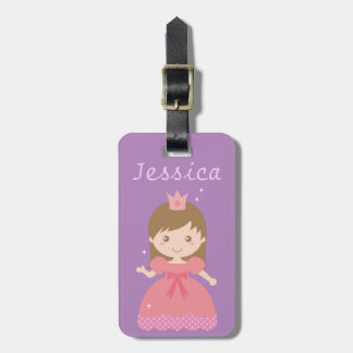 Cute Princess, Pink for Little Girls Tag For Luggage