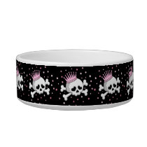 Cute Princess Skull Bowl