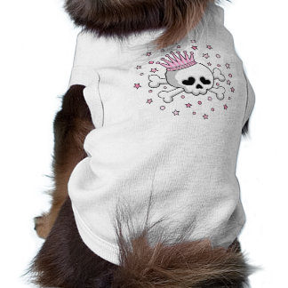 Cute Princess Skull Doggie Tshirt