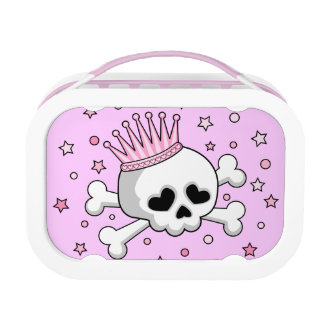Cute Princess Skull Lunch Boxes