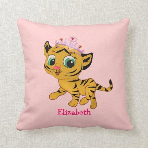 Cute Princess Tiger Tigress Pillow for Girls Gift
