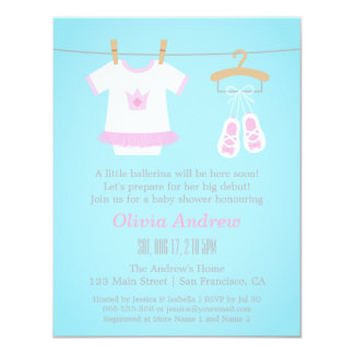 tutu cute baby shower invitations announcements zazzle