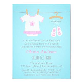 cute princess tutu baby girl shower invitations