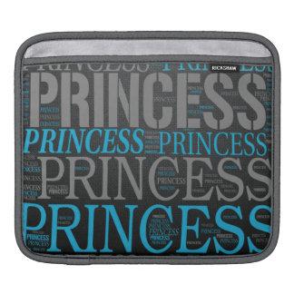 Cute Princess Wordart Sleeves For iPads