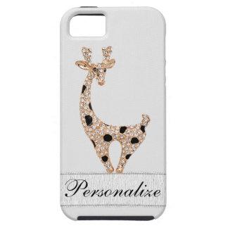 Cute Printed Gold Giraffe & Diamonds iPhone SE/5/5s Case