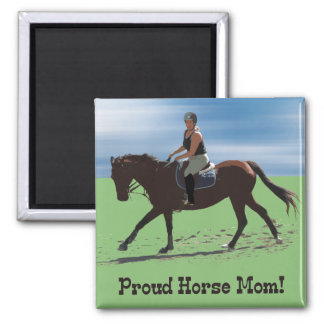 Cute Proud Horse Mom Equestrian Magnet