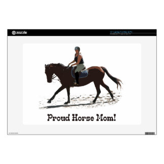 "Cute Proud Horse Mom Equestrian Skins For 15"" Laptops"