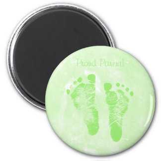 Cute Proud Parent Baby Footprints Annoucements Magnet