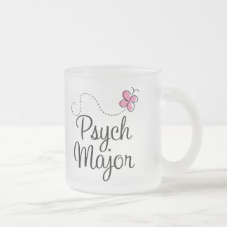 Cute Psych Major Gift 10 Oz Frosted Glass Coffee Mug