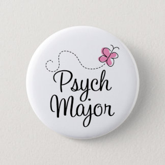 Cute Psych Major Gift Pinback Button