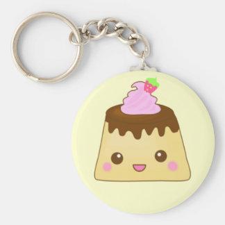 Cute pudding keychain