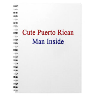 Cute Puerto Rican Man Inside Spiral Note Books