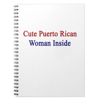 Cute Puerto Rican Woman Inside Spiral Note Book