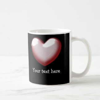 Cute Puffed Heart Pink Valentines Heart Coffee Mug
