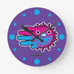 Hand shaped Cute Puffer Fish Round Clock