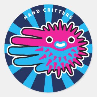 Cute Puffer Fish Smile Classic Round Sticker