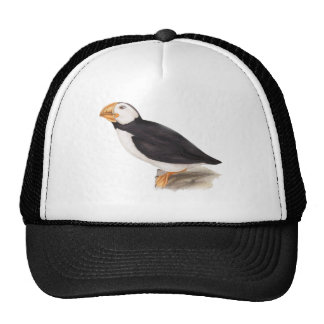 Cute Puffin Birds Illustration Trucker Hat