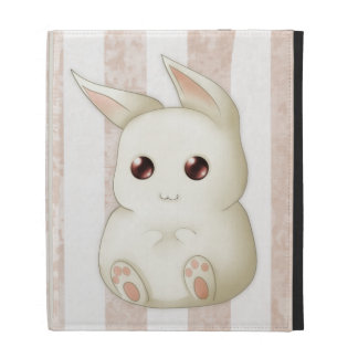 Cute Puffy Kawaii Bunny Rabbit iPad Folio Cover